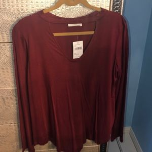 Wine colored long sleeve bought at Dry Goods